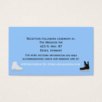 Ice Skaters Wedding Enclosure Card