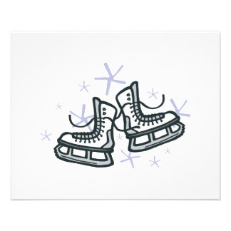 "ice skates and snowflakes graphic 4.5"" x 5.6"" flyer"