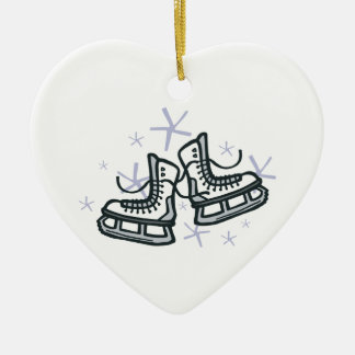 ice skates and snowflakes graphic christmas ornaments