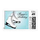 Ice Skates and Snowflakes Postage Stamps