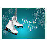 Ice Skates and Snowflakes Thank You Card