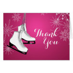 Ice Skates and Snowflakes Thank You Stationery Note Card