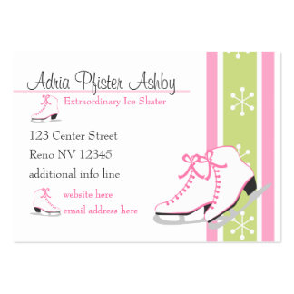 Ice SKates Business Card Template