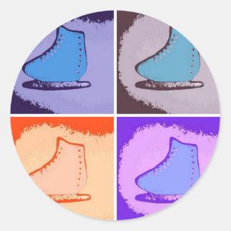Ice Skates Classic Round Sticker