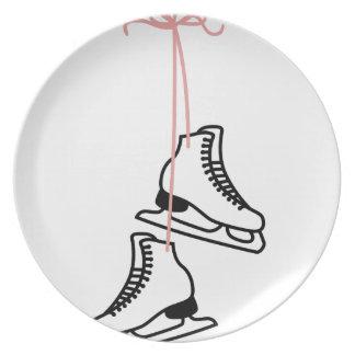 Ice Skates Dinner Plate