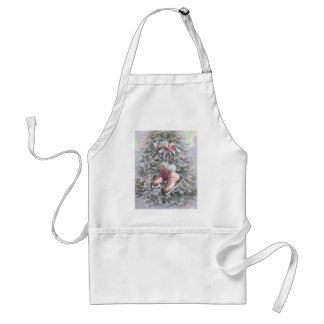 ICE SKATES in PINK by SHARON SHARPE Adult Apron
