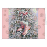 ICE SKATES in PINK by SHARON SHARPE Card