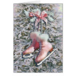 ICE SKATES in PINK by SHARON SHARPE Cards