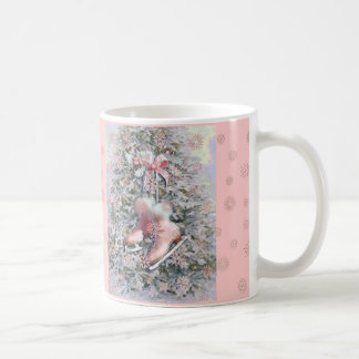 ICE SKATES in PINK by SHARON SHARPE Coffee Mug