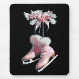 ICE SKATES in PINK by SHARON SHARPE Mouse Pad