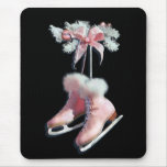 ICE SKATES in PINK by SHARON SHARPE Mouse Pads
