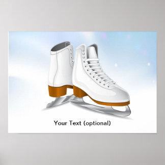 Ice Skates Poster Print