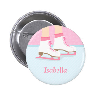 Ice Skates Skating Rink For Girls Pinback Button