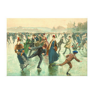 Ice Skating 1885 Gallery Wrap Canvas