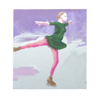 Ice Skating Art Notepad