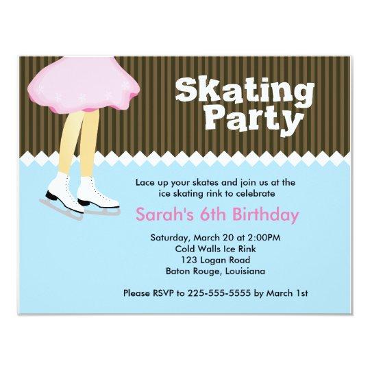 Ice Skating Birthday Card
