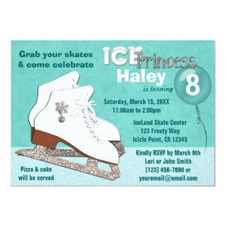 Ice Skating Birthday Invitation AQUA Ice Princess