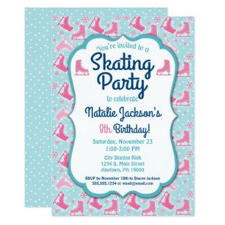 Ice Skating Birthday Invitation Girls Party Invite