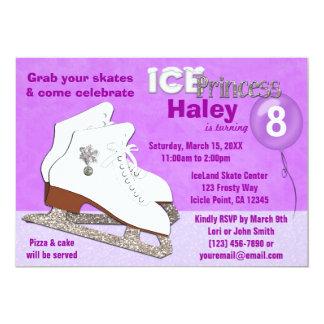 Ice Skating Birthday Invitation PURPLE IcePrincess