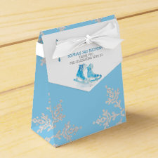 Ice Skating Birthday Party Favor Box
