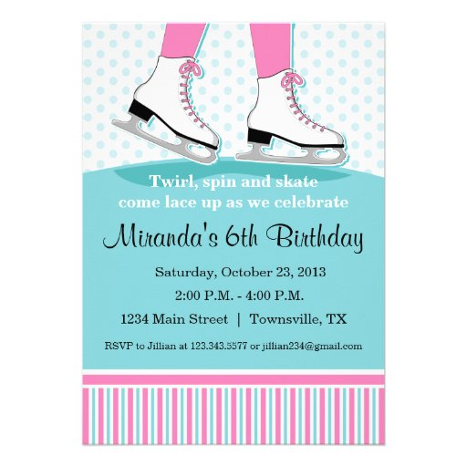 Ice Skating Invites was amazing invitations example