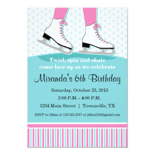 Ice Skating Invitations Announcements Zazzle