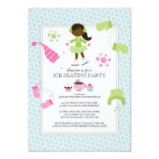 "Ice Skating Birthday Party Invitations 5"" X 7"" Invitation Card"