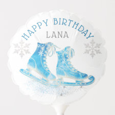 Ice Skating Birthday Party Personalized Balloon