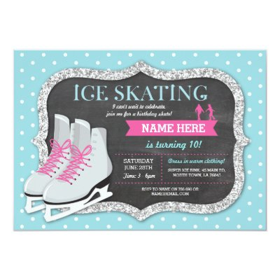 Ice Skating Invitation Ice Skating Invite Zazzlecom