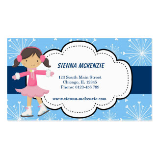 Ice Skating Blue Business Cards