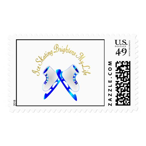 Ice Skating Brightens My Life Postage Stamp