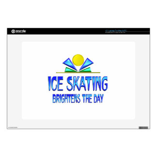 """Ice Skating Brightens the Day Decal For 15"""" Laptop"""