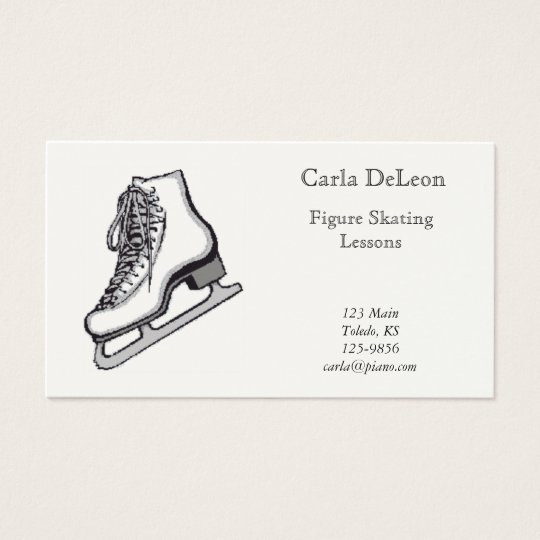 Ice Skating Business Card
