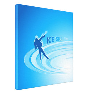 Ice Skating Stretched Canvas Print