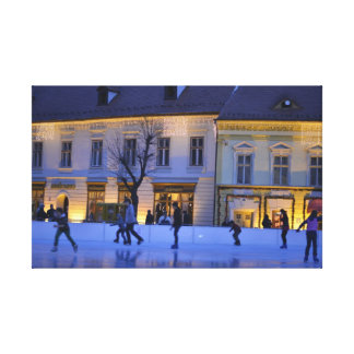 Ice skating gallery wrapped canvas