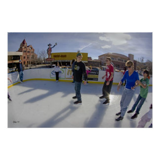 Ice Skating, Carson City, Nevada Posters