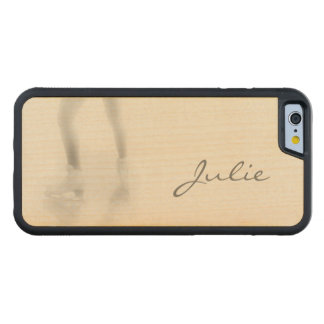 Ice skating carved® maple iPhone 6 bumper