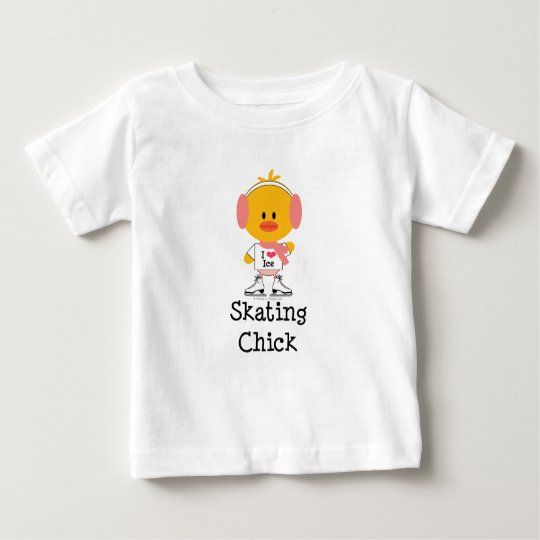 Ice Skating Chick Infant T shirt