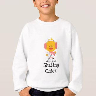 Ice Skating Chick Kids Sweatshirt