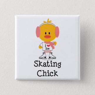 Ice Skating Chick Pin