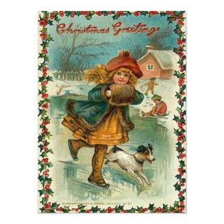 Ice Skating Christmas Card