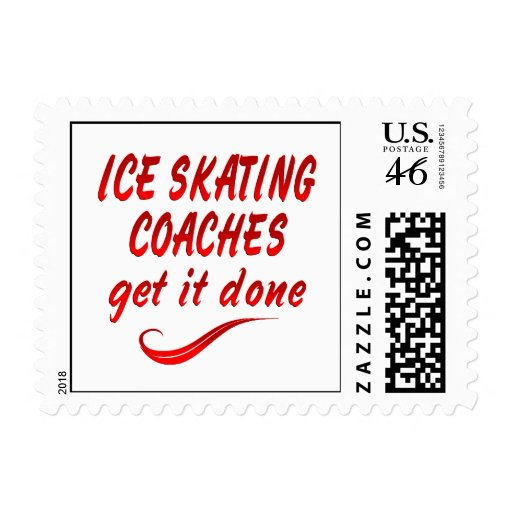 Ice Skating Coaches Get it Done Stamp