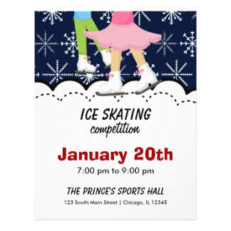 Ice Skating Competition (Dark Blue) Custom Flyer
