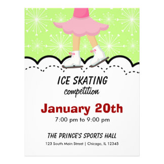 Ice Skating Competition (Green) Flyer