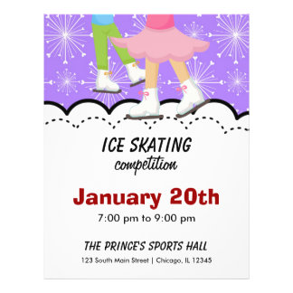 Ice Skating Competition (Purple) Flyer