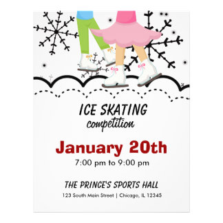 Ice Skating Competition (White) Flyer
