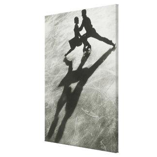 Ice Skating Couple Canvas Prints