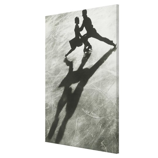 Ice Skating Couple Canvas Print
