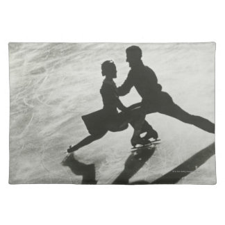 Ice Skating Couple Cloth Placemat