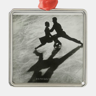 Ice Skating Couple Metal Ornament